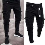 Long Pencil Pants Ripped Jeans Slim Spring Hole Fashion