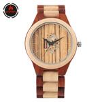 Watch Full Wood Bangle Watches Quartz Movement Creative