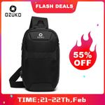 Crossbody Bags Waterproof USB Charging Chest Pack Short Trip Messenger