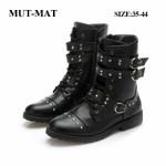 Martin British Style Brock Carved Handsome Boots Rock Metal