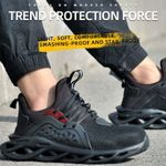 spring Steel Toe Work Safety Shoes Anti-smashing Puncture Proof