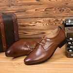 New Hih Quality British Style Leather  Shoes Lace-Up Bullock Business Dress