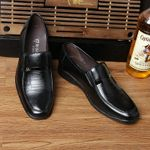 New Fashion Square Toe Loafers Slip-On Leather Oxford Shoes