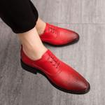 New Stylish Oxford Shoes Fashion Brogue Split Leather Formal Dress