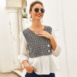 Boho Patchwork  Tops and Blouses Sleeve V Neck Sexy Vintage Shirt