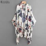 Print Sleeve Cardigan Blouse Casual Cover Up Shirts Beach Kimono