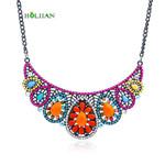 fashion statement necklaces&pendants multicolor candy flower