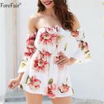 Floral Print Playsuit Shorts Romper Plus Size