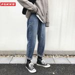 Fashion Brand Trend Jeans High Street Wild Comfortable