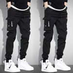 Vintage Cargo Hip hop Khaki Black Pockets Joggers Pants
