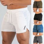 Solid Training Shorts Workout Sports Casual Clothing Fitness