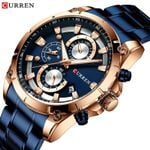 New Fashion Watches Top Brand Luxury With Stainless Steel Sports