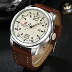 Luxury Brand Date Quartz Watch Casual Military Sports Watches Leather