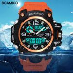 Sports Watches Brand Digital Orange Shock Swim Quartz
