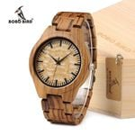 Watches Simple Plate All Zebra Wood Watch Relogio Masculino