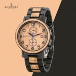 Relogio Masculino Watch Top Luxury Stainless Steel Wooden