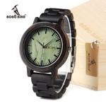 Wooden Watch Analog Quartz Movement Lightweight Vintage