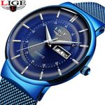New Blue Quartz Clock Watches Top Brand Luxury Watch