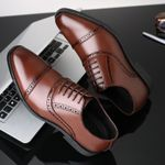 Fashion Formal Shoes High Quality Breathable PU Leather
