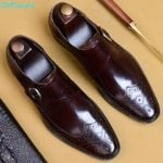 Shoes Classic Brogue Oxford Shoes British Style Genuine Leather