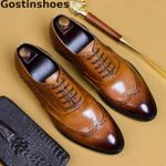 Luxury Genuine Leather Brogues Oxfords Shoes