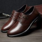 Formal Shoes Pointed Toe Genuine Leather Shoes Business Oxford