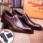 formal shoes genuine leather oxford black dress