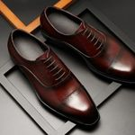 formal leather oxford shoes dressing wedding