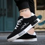 New Spring Canvas Sneakers Low Top Black Shoes