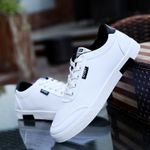 Solid breathable canvas basic sneakers shoes