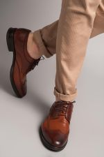 Pearl Genuine Leather Brown  Shoes
