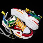 Height Increasing Colorful Casual Shoes All Seasons Breathable Sneakers