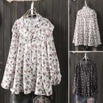 Spring Shirts Ruffles Blouses Fashion Bohemian Tops Casual Long Sleeve
