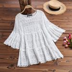 Lace Blouse Bohemian Patchwork Tops