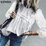 Hollow Out Blouse Bohemian Tops Beach Tunic Casual