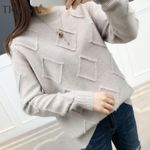 Pullovers Long Sleeve Knitted Warm Loose Sweater