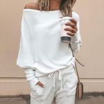 sleeve casual loose sweater tops pullover Fashion