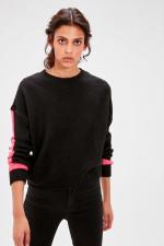 Black Sleeve Detail Sweater Sweater