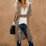 Cardigan Fashion Slim Leopard Kimono Cardigan