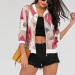 Jacket Fashion Boho Print Coats Long Sleeve Baseball Outwear