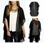 Hot Boho Lace Floral Crochet Chiffon Cardigan Sheer Coat Jacket