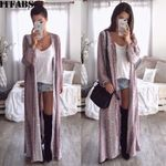 NEW Long Sleeve Snake Chiffon Cardigan Loose Boho Outwear