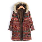 Style Fashion Boho Warm Coat Fur Hood Large Plus Size
