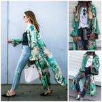 Vintage Loose Kimono Long Cardigan Tops Boho Coat Jacket Blouses
