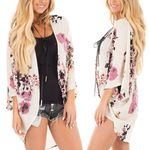 Boho Chiffon Coat Jacket Blouse Long Sleeve Tops