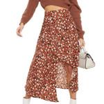 style Casual irregular beach boho maxi skirt Floral
