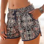 Printed Loose Hot Shorts Trousers