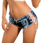 hot shorts Sexy Bandage Button Cut Off Low Waist Denim