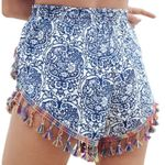 Bohemian Shorts Casual Printing Beach Tassel Short Trouser