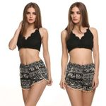 Cotton For Women Home Print Straight Casual Short